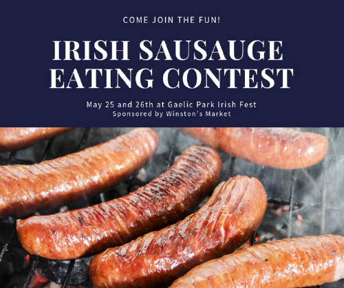 Irish Sausage Eating Contest